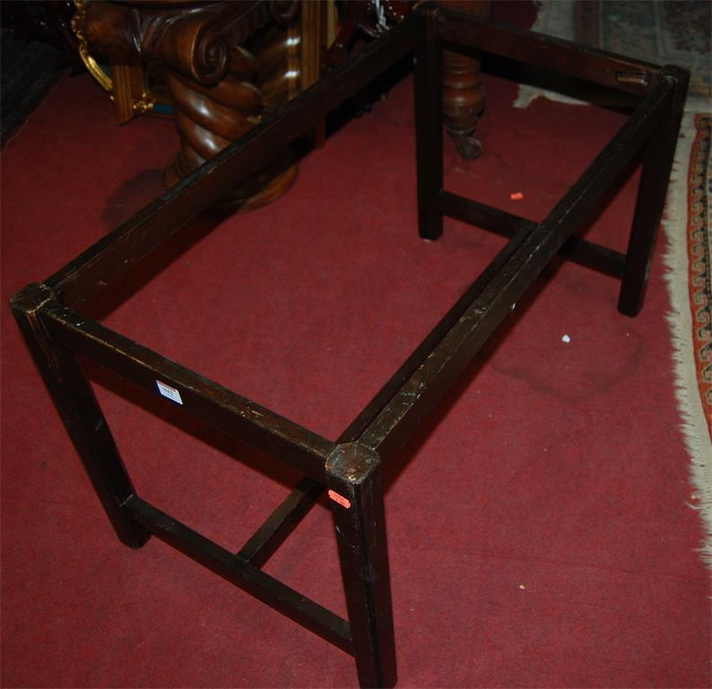 Two reproduction mahogany butlers tray stands only