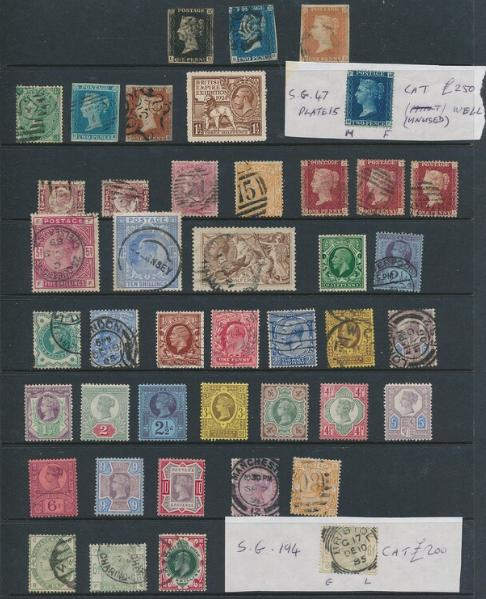 Great Britain. Lot older issues on stockcards