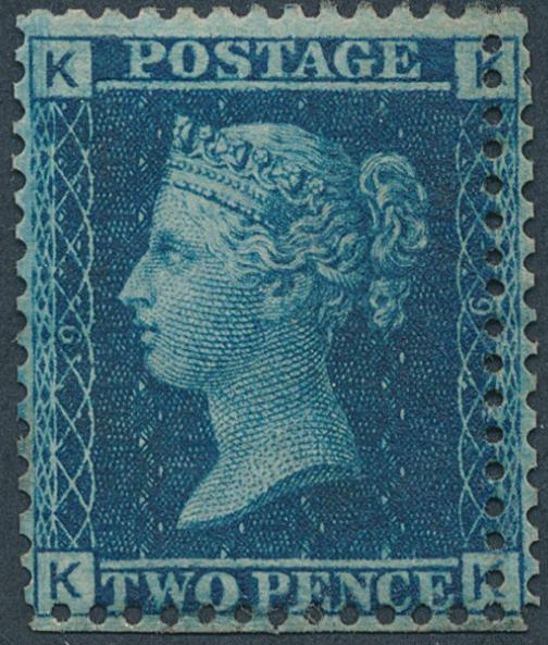 England. 1858. 2 d. blue. Perf.14. Mint with DOUBLE PERFORATION. SG: £ 375+