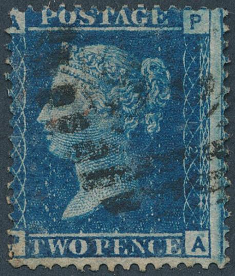 England. 1858. 2 d. blue. Plate 12. Fine used. SG: £ 140