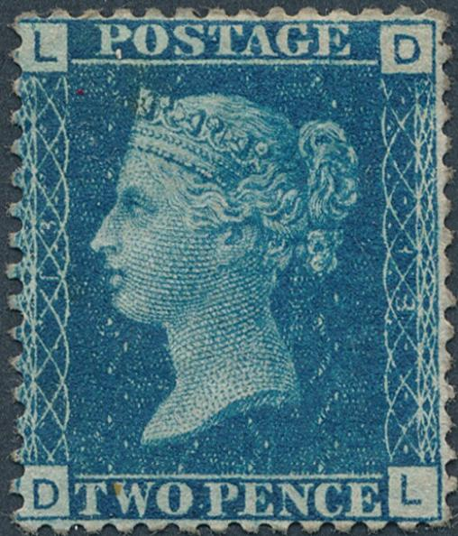 England. 1858. 2 d. blue. Perf.14. Mint, hinged. SG: £ 375