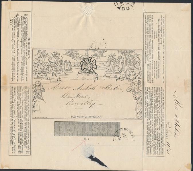 England. 1840. MULREADY. 1 d. black. Fine used. SG: £ 525