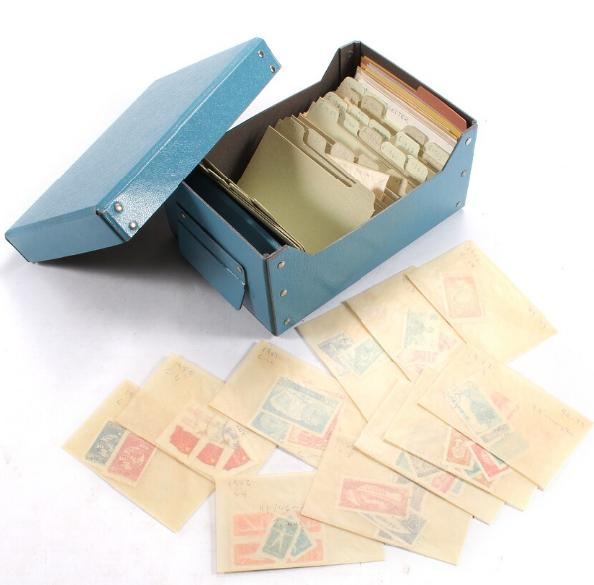 China. Small box with stamps fra circa 1930´s to 1990´s