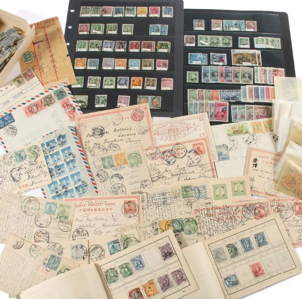 China. Interesting lot covers and stationaries, many sent to Sweden