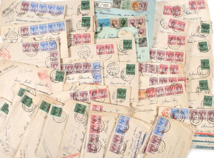 MALAYA. B. M. A. MALAYA. 41covers, all sent to Denmark