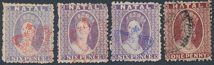 Natal. (South Africa). 4 Victoria-stamps