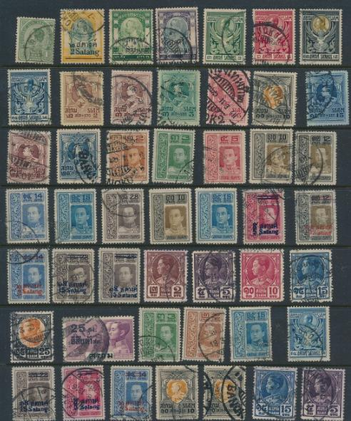 Thailand. (Siam). 4 pages with older stamps