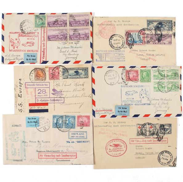 USA. AIRMAIl. 6 Airmail-covers
