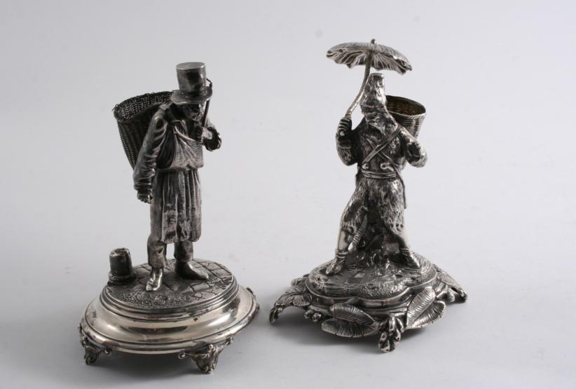 TWO 19TH CENTURY CONTINENTAL FIGURES