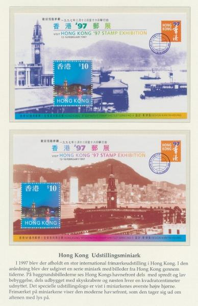"""Worl. 2 modern coll. """"EURO-issues"""" (NH) and """"Hong Kong"""" incl. FDC's, booklets etc."""