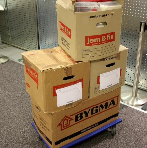 4 large boxes (one with coins). mostly Denmakr with areos