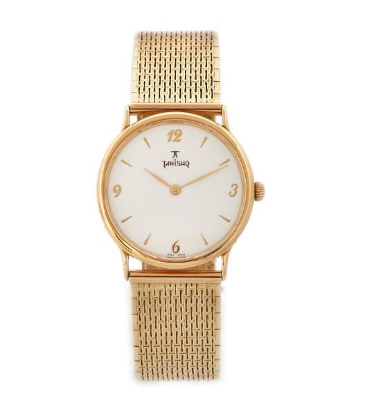 A gentleman's wristwatch of 18k gold. Quartz. 2000s