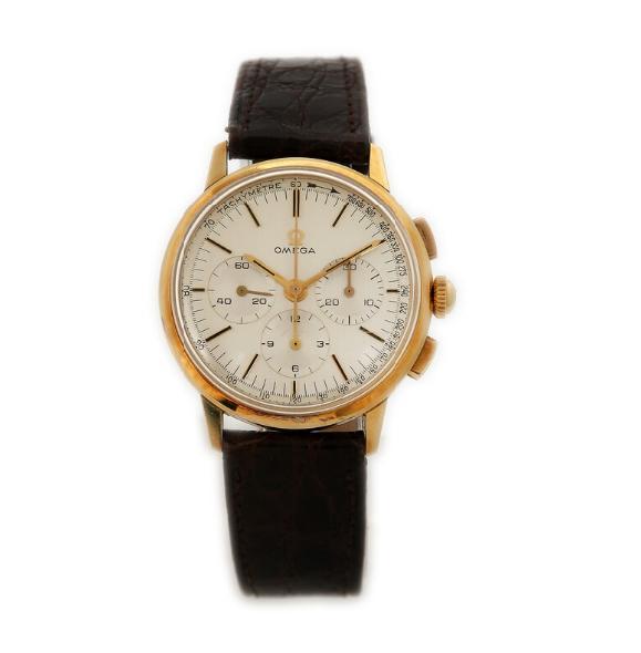 A gentleman's wristwatch of 18k gold