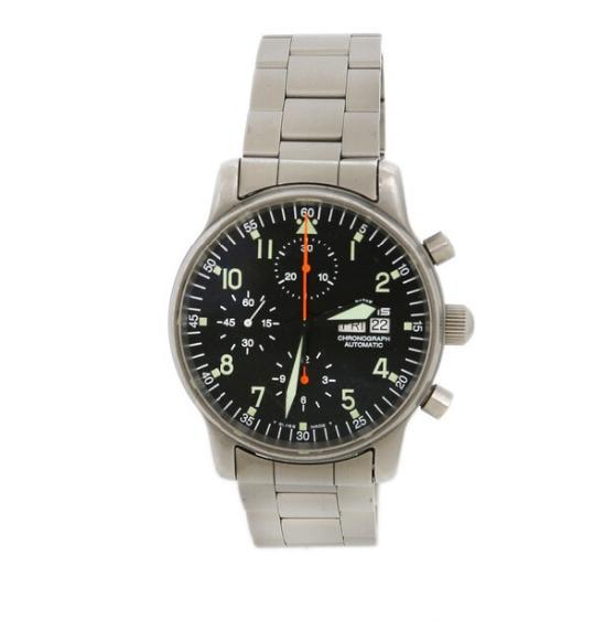 A gentleman's wristwatch of brushed steel
