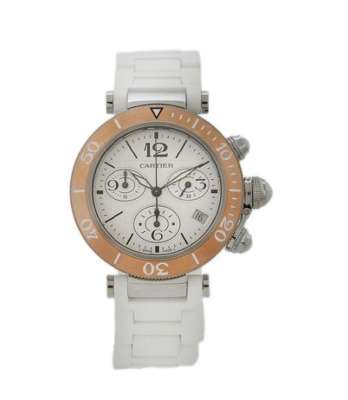 A lady's wristwatch of steel. Model Pasha Seatimer. Quartz with chronograph and date. 2011