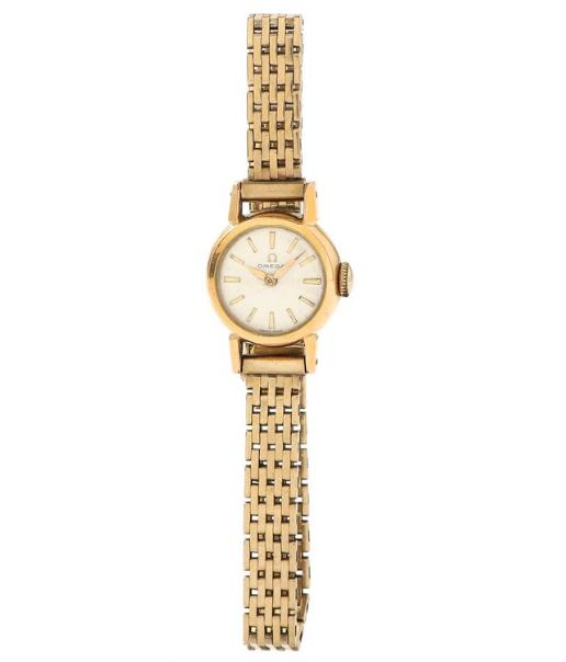 Lady's wristwatch of goldplated steel with bracelet of 8k gold