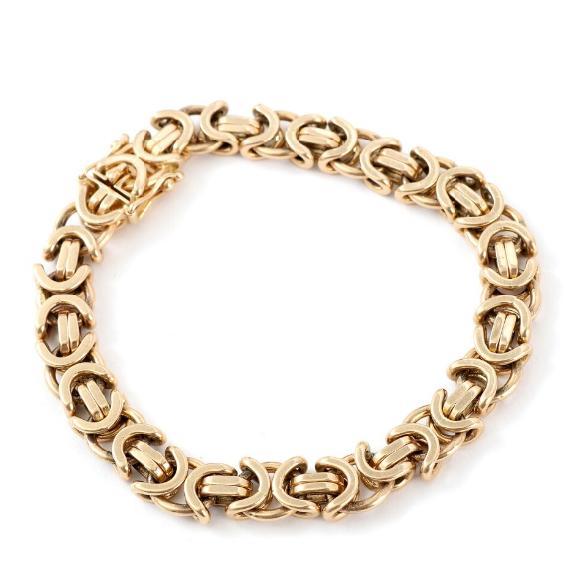 A 14k gold bracelet. Manufactured by Bjarne Nordmark Henriksen. Weight app. 50.5 gr