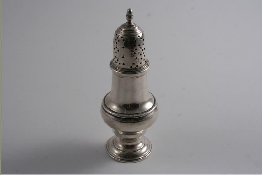 A GEORGE III BALUSTER CASTER