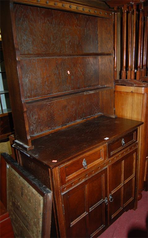 A moulded oak dresser