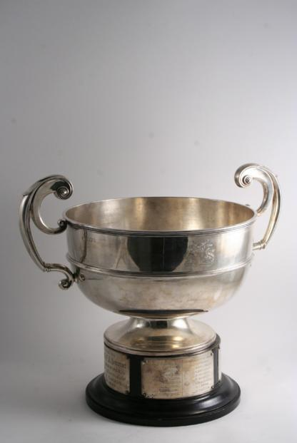 A LARGE TWO-HANDLED CUP