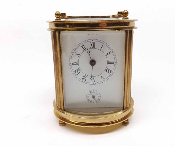 Modern oval carriage clock by Proclocks of China