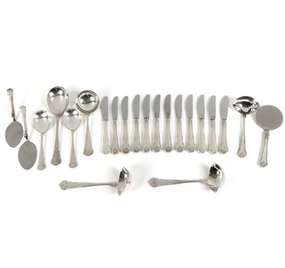 """""""Herregaard"""" silver cutlery. Cohr. Weight excl. items with steel 487 gr. (22)"""