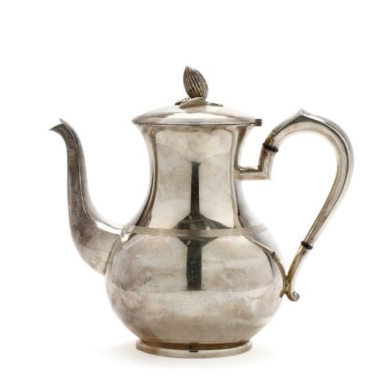 Norwegian silver coffee pot. J. Thostrup, 20th century. Weight 552 gr. H. 21 cm.