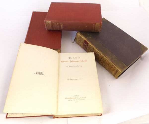 J W CROKER (ED): BOSWELL'S LIFE OF JOHNSON INCLUDING THEIR TOUR TO THE HEBRIDES, L, 1860 new edition, added engraved title page,