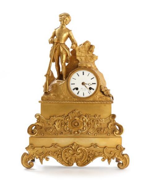 A 19th century French gilt bronze mantel clock
