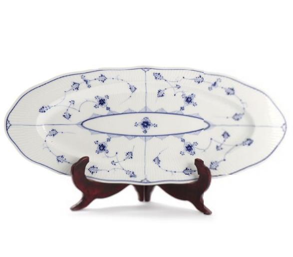 """Blue Fluted"". A Royal Copenhagen porcelain fish dish, decorated in underglaze blue"