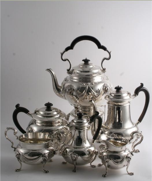 A LATE VICTORIAN TEA & COFFEE SERVICE