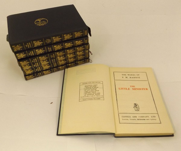 SIR JAMES MATHEW BARRIE: THE WORKS – THE PLAYS, 1927-38, 7 assorted volumes, uniform limp leather gilt (7)