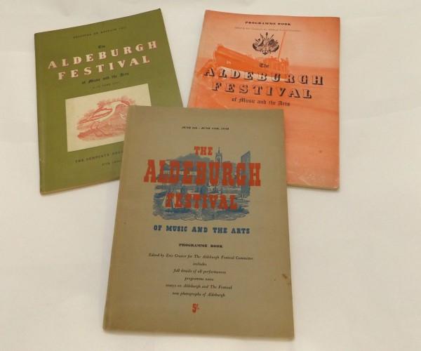 THE ALDBURGH FESTIVAL OF MUSIC AND THE ARTS, Souvenir programme books 1948, 1949, 1951, each original printed wraps (3)