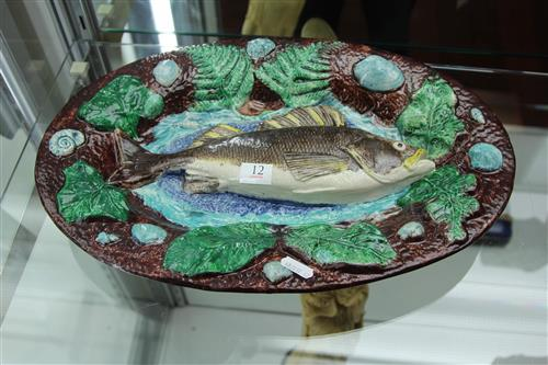 French Palissy Majolica Fish Wall Plaque