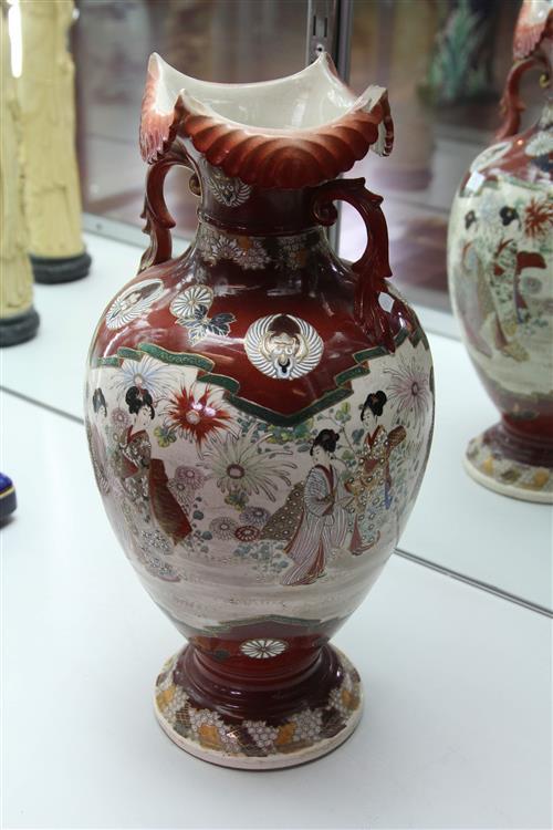 Japanese Vase with Painted with Ladies (AF)