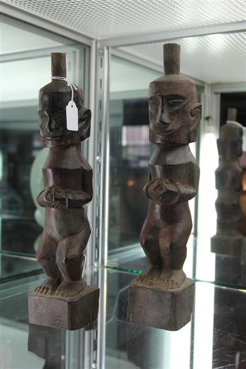 Batak Karo Ancestor Figures (Binjai Village, North Sumatra, Late 20th Century)