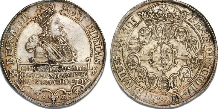 Speciedaler 1624, H 55A, S 14, Dav. 3524 - smukt eksemplar med fine detaljer