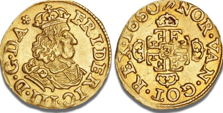 1/4 dukat 1660, H 19A, S 6, Aagaard 25.1, F 103