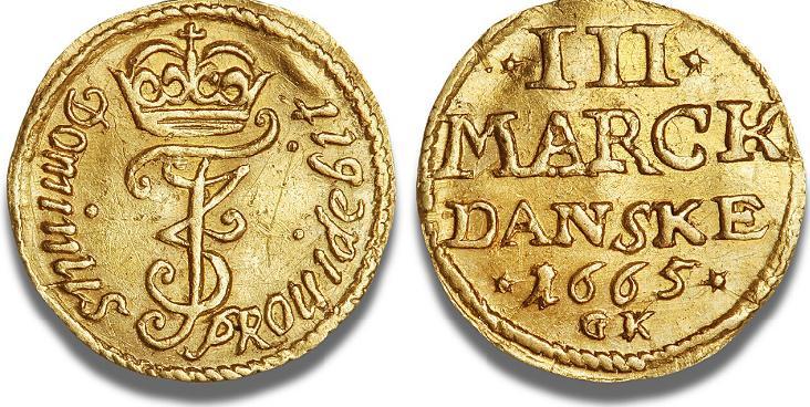 1/4 dukat 1665, H 40C, S 12, Aagaard 58