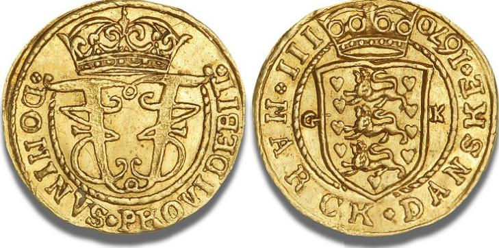 1/4 dukat / III mark 1670, H 42, S 3, Aagaard 66.1