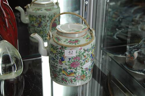 Famille Rose Teapot with Floral Detail