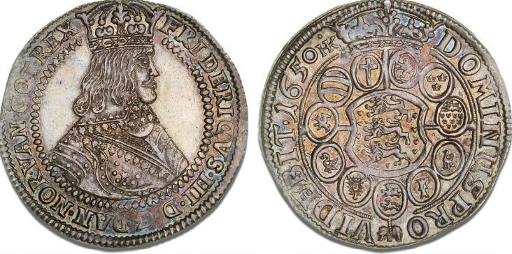 Speciedaler 1650, H 50A, Aagaard 77.2, S 11, Dav. 3540