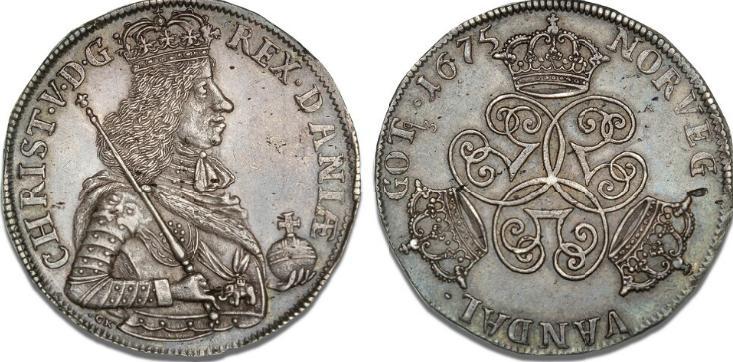Speciedaler 1675, H 65, S 4, Dav. 3631