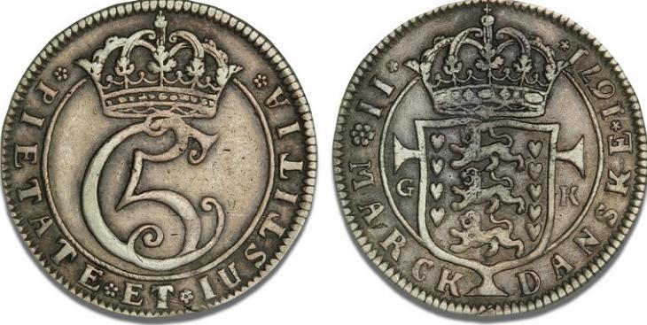 2 mark 1671, H 69A, S 42, Aagaard 8, Sieg 26.2