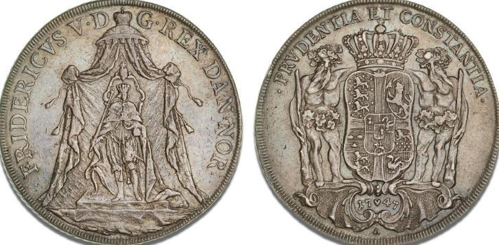 Speciedaler 1747, H 25, Dav. 1299