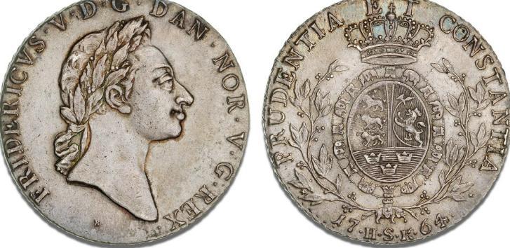 Speciedaler 1764, H 27A, S 1, Sieg 16.1, Dav. 1302A