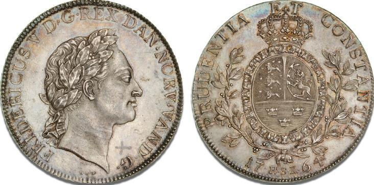 Speciedaler 1764 HSK (IHW/IW), H 27C, Sieg 18.3, Dav. 1302B