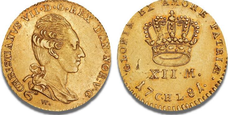 Kurantdukat / 12 mark 1781 W/CHL, Altona, H 4A, S 1, F 281