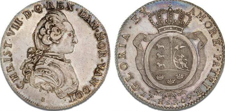 Rethwisch, speciedaler 1769 HSK, H 7, C 80, Dav. 1305