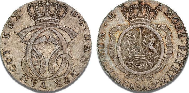 Rethwisch, 1/2 speciedaler 1769 HSK, H 9B, S 10, KM 605